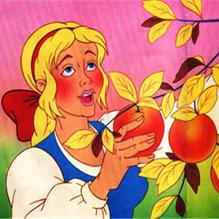 Дедова дочка и золотая яблонька