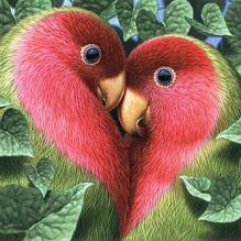 Птички-неразлучницы