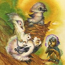 Орёл в голубином гнезде