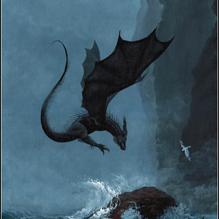 Страшный дракон скалы Спиндлстон