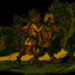 Как два мальчика повстречались с трольдами в Хедальском лесу