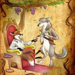 Волк и виноград