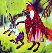 Как заяц лису перехитрил