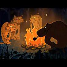 Бараны волков пугают