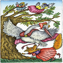 Сорока, лиса и цапля