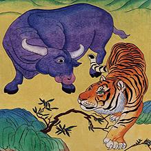 Откуда у тигра на боках чёрные полосы