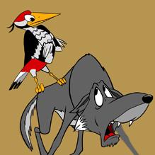 Волк и дятел