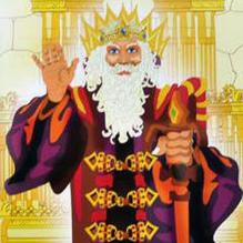 Король с раскрашенной картинки